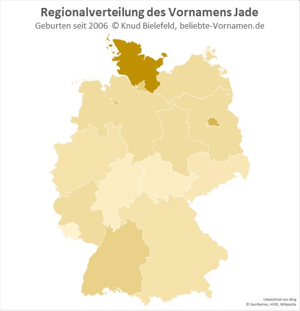 Am beliebtesten ist der Name Jade in Schleswig-Holstein.