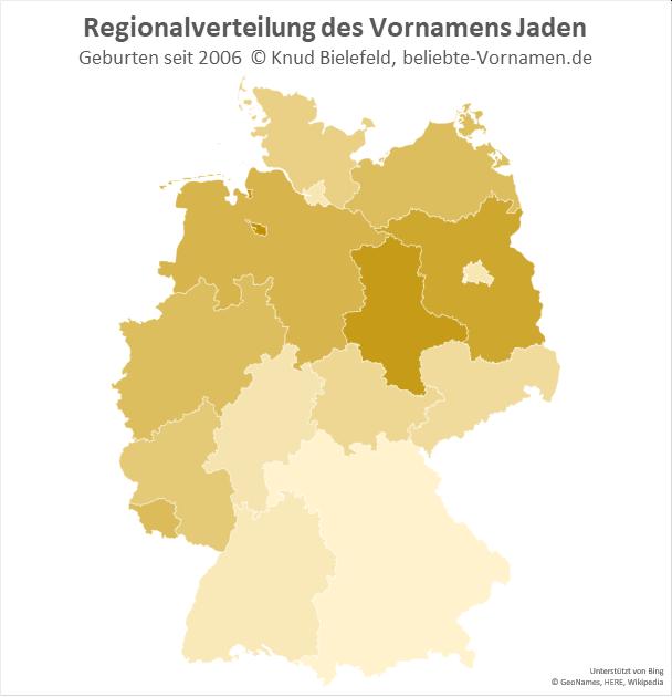In Bremen und Sachsen-Anhalt ist der Name Jaden besonders beliebt.