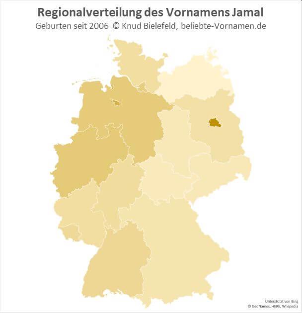 In Berlin ist der Name Jamal besonders beliebt.