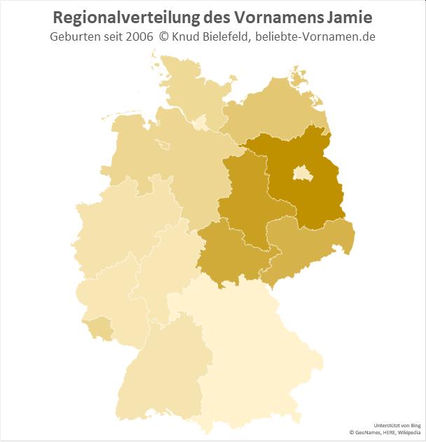 In Brandenburg ist der Name Jamie besonders beliebt.