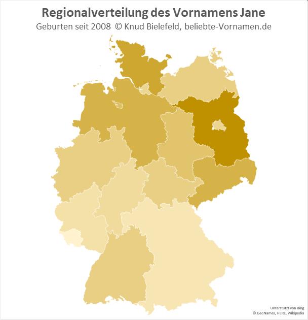 In Brandenburg ist der Name Jane besonders beliebt.