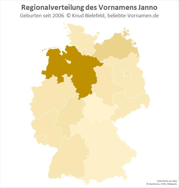 Der Name Janno ist in Niedersachsen besonders populär.