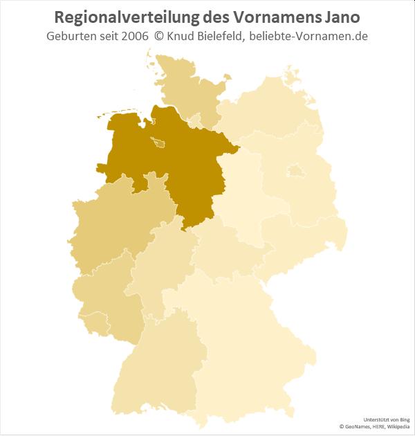 In Niedersachsen ist der Name Jano besonders beliebt.