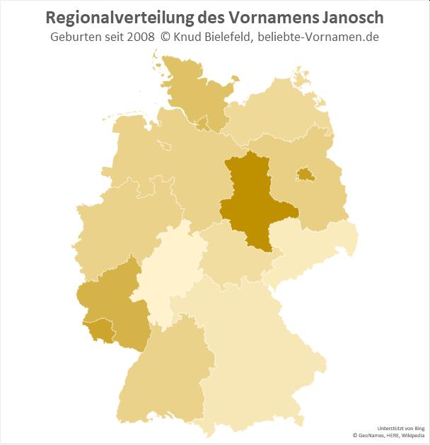 In Sachsen-Anhalt ist der Name Janosch besonders beliebt.