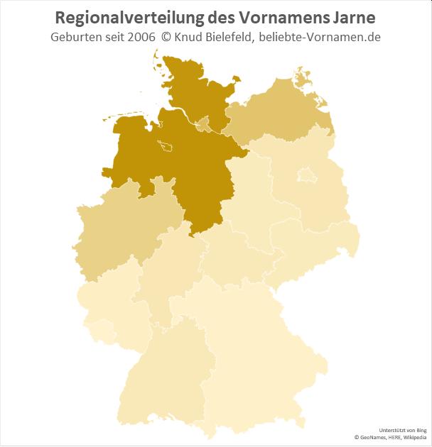 Der Name Jarne ist besonders in Norddeutschland beliebt.