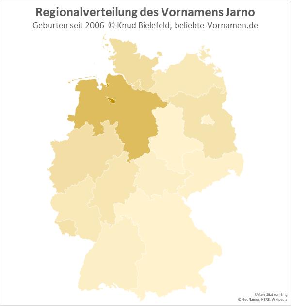 Am beliebtesten ist der Name Jarno in Niedersachsen und Bremen.