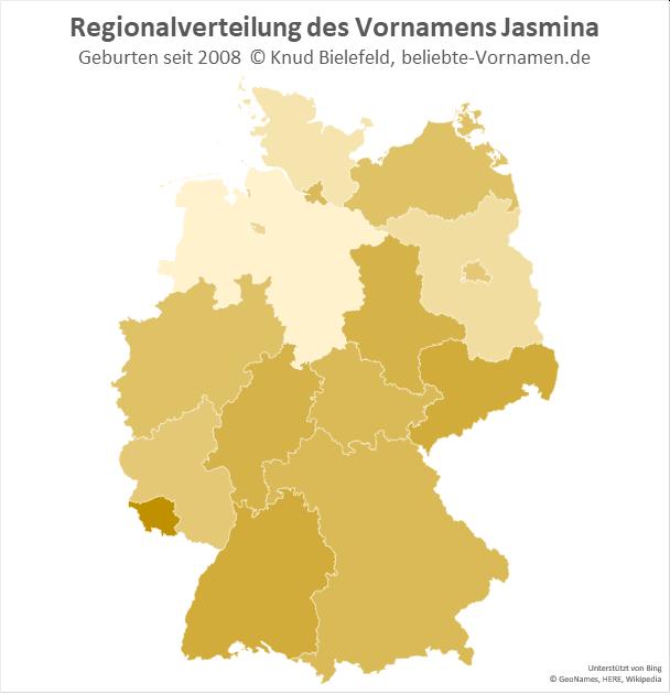 Im Saarland ist der Name Jasmina besonders beliebt.