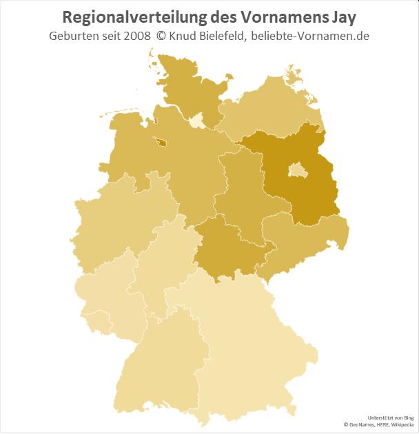 In Bremen und in Brandenburg ist der Name Jay besonders beliebt.