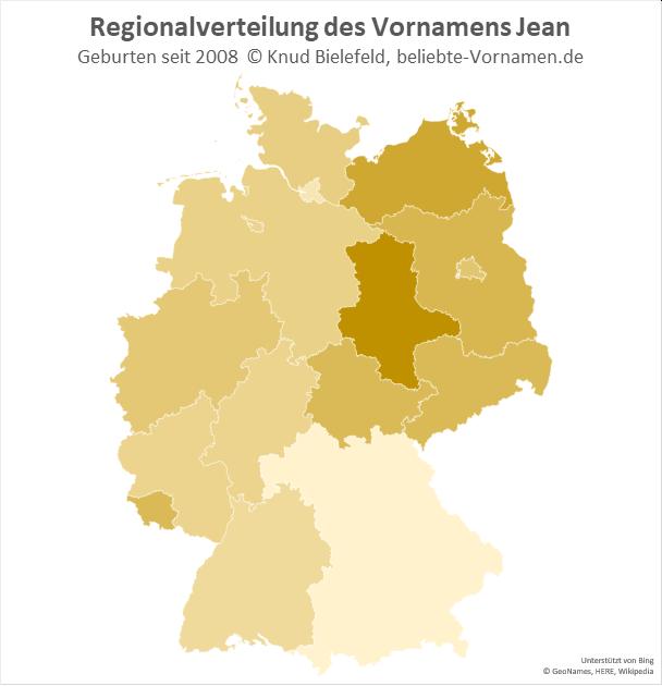 Besonders beliebt ist der Name Jean in Sachsen-Anhalt.