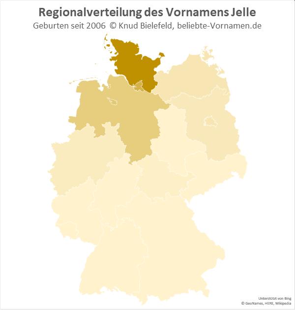 In Schleswig-Holstein ist der Name Jelle am beliebtesten.