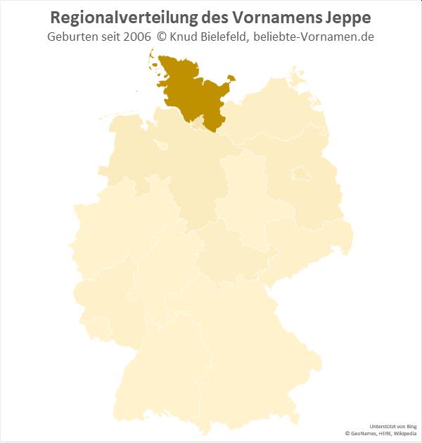 Der Name Jeppe ist vor allem in Schleswig-Holstein beliebt.