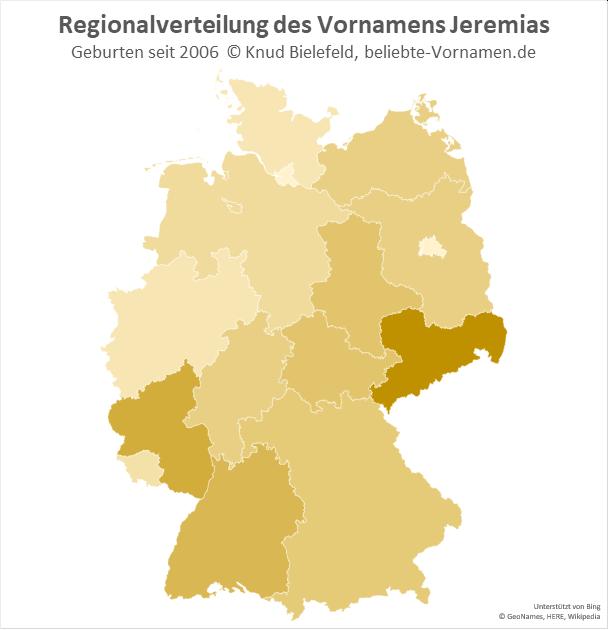 In Sachsen ist der Name Jeremias besonders beliebt.