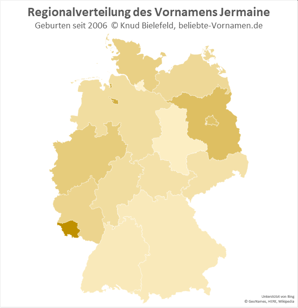 Im Saarland ist der Name Jermaine besonders beliebt.