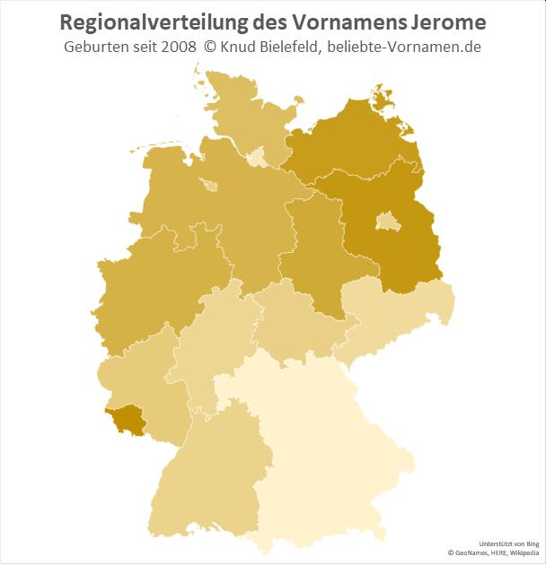 Am beliebtesten ist der Name Jerome im Saarland.