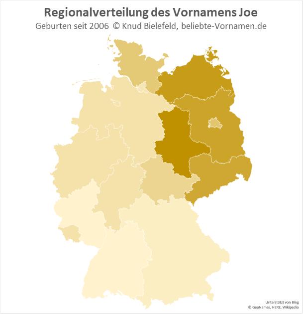 In Sachsen-Anhalt ist der Name Joe besonders beliebt.