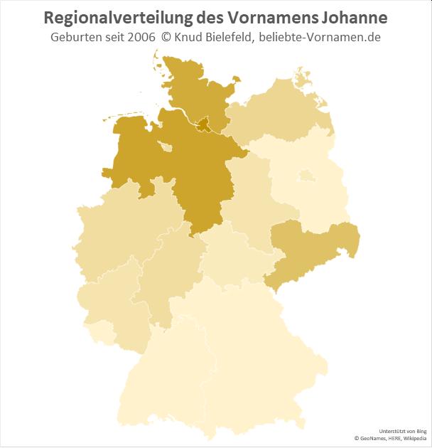 In und um Hamburg ist der Name Johanne besonders beliebt.