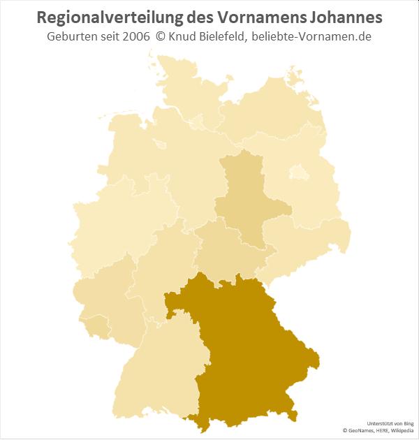 In Bayern ist der Name Johannes besonders beliebt.