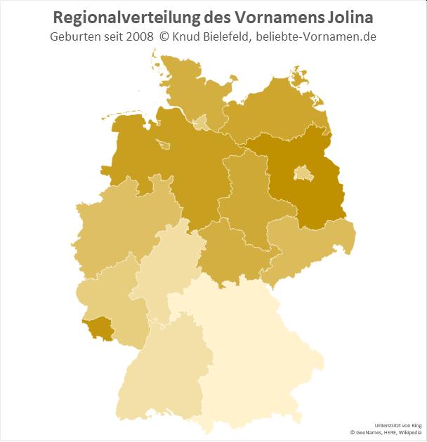 In Brandenburg ist der Name Jolina besonders beliebt.