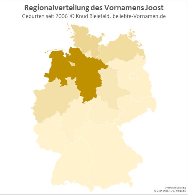 Der Name Joost ist in Niedersachsen besonders beliebt.