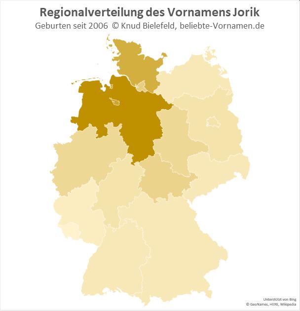 In Niedersachsen ist der Name Jorik besonders beliebt.