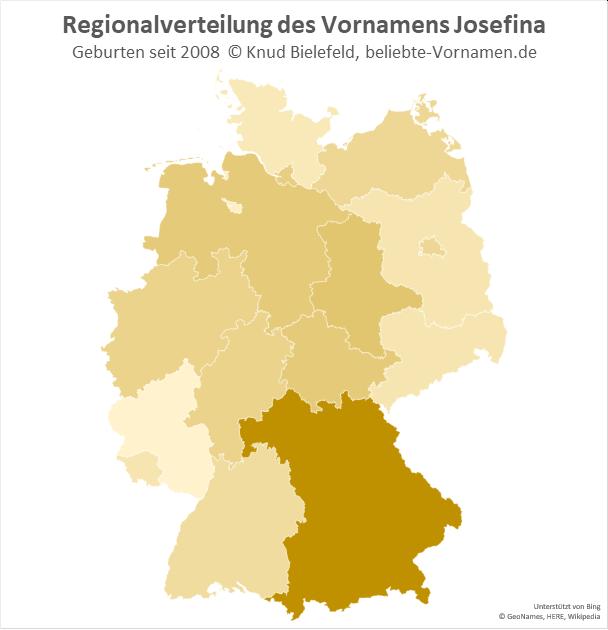 In Bayern ist der Name Josefina besonders beliebt.