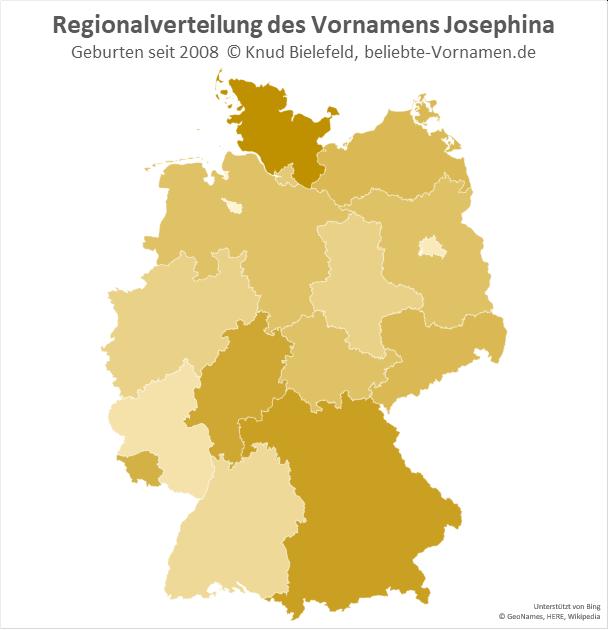 Am beliebtesten ist der Name Josephina in Schleswig-Holstein.