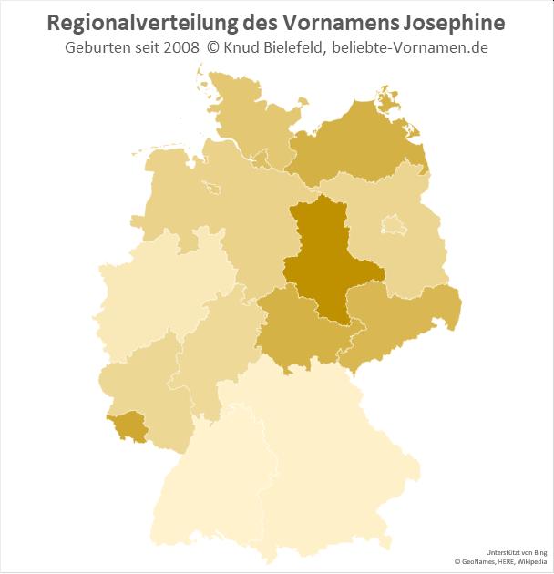 In Sachsen-Anhalt ist der Name Josephine besonders beliebt.
