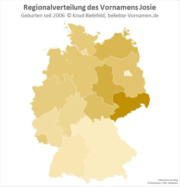 In Sachsen ist der Name Josie besonders beliebt.