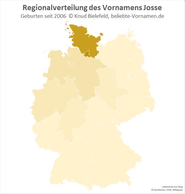 Der Name Josse ist in Schleswig-Holstein und Hamburg besonders beliebt.