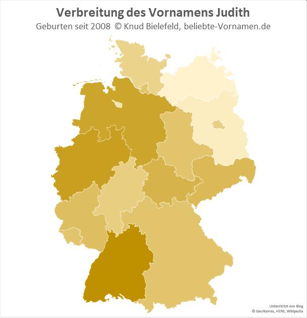 Besonders beliebt ist der Name Judith in Baden-Württemberg.
