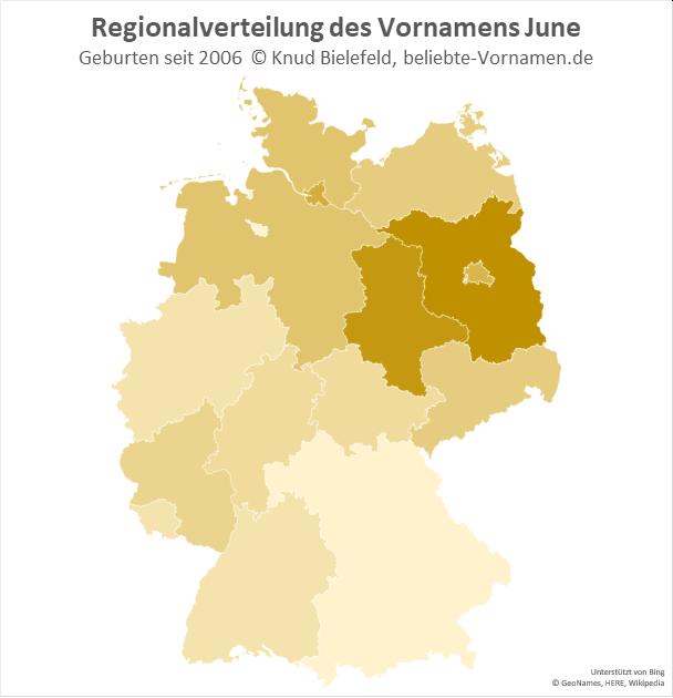 Besonders beliebt ist der Name June in Brandenburg.