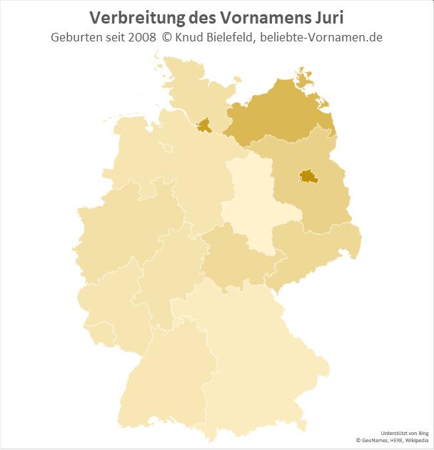 Besonders beliebt ist der Name Juri in Berlin.