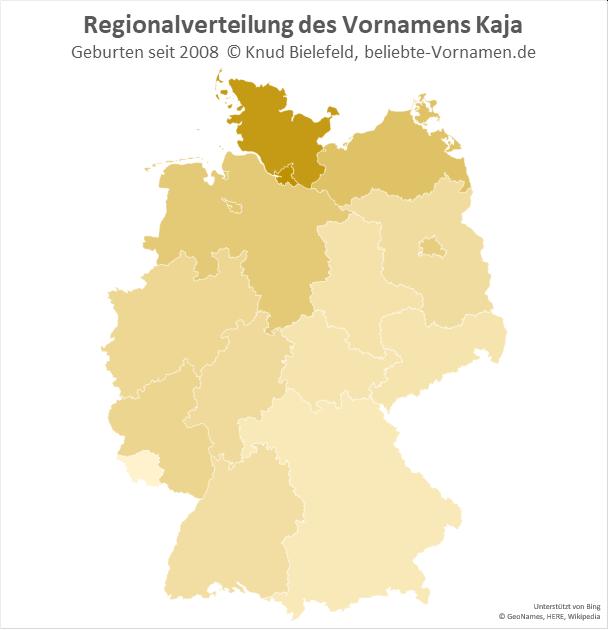 In Hamburg und Schleswig-Holstein ist der Name Kaja besonders beliebt.
