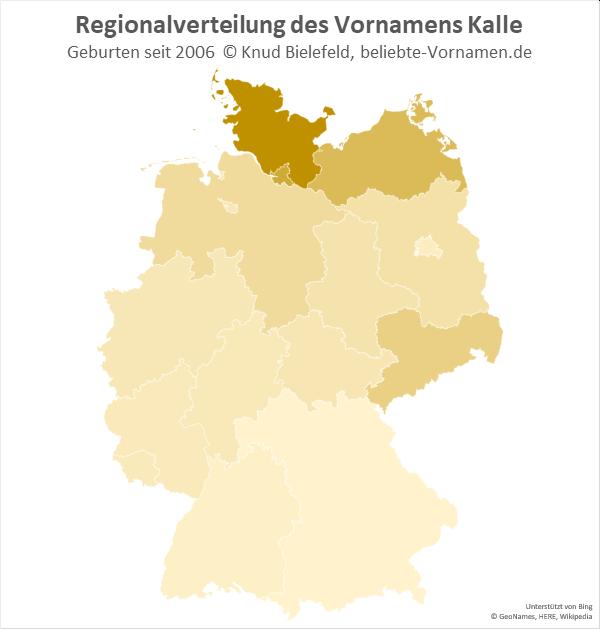 In Schleswig-Holstein ist der Name Kalle besonders beliebt.