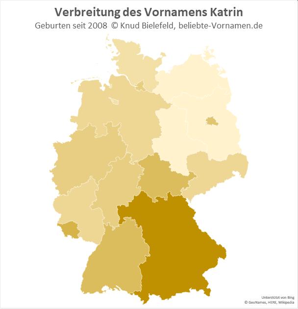 Besonders beliebt ist der Name Katrin in Bayern.
