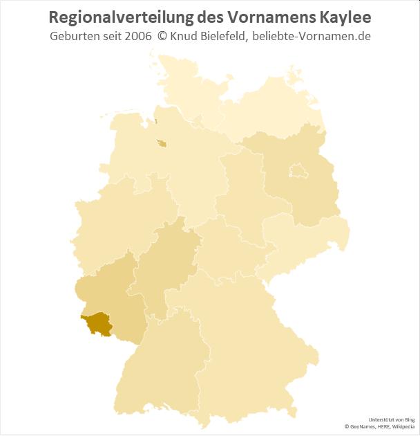 Im Saarland ist der Name Kaylee besonders beliebt.