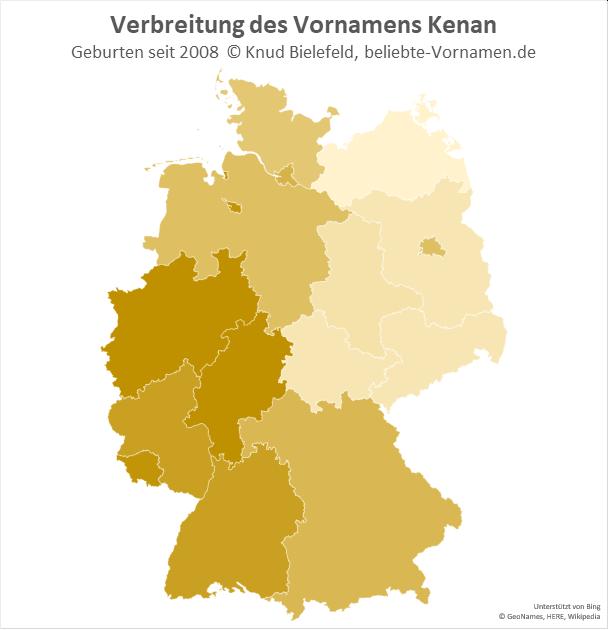 In Hessen und in Nordrhein-Westfalen ist der Name Kenan besonders beliebt.