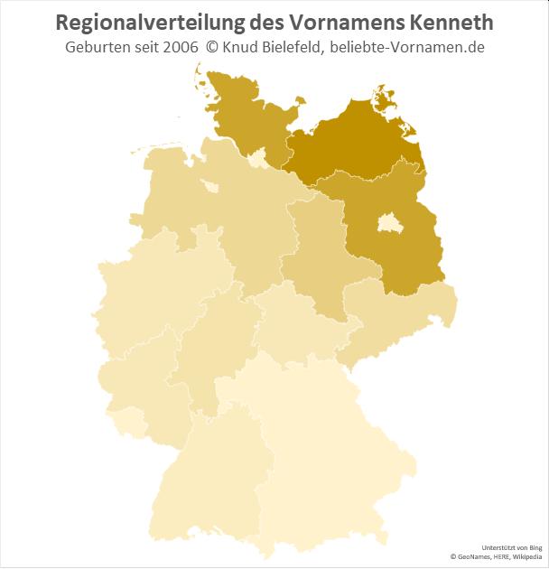 In Mecklenburg-Vorpommern ist der Name Kenneth besonders beliebt.