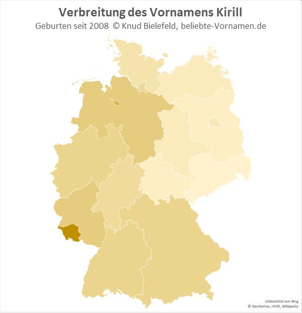 Im Saarland ist der Name Kirill besonders beliebt.