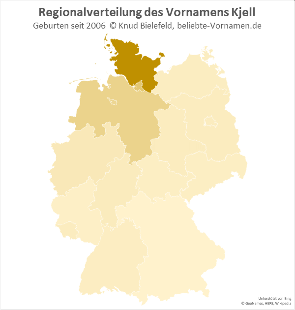 Der Name Kjell ist vor allem in Schleswig-Holstein beliebt.