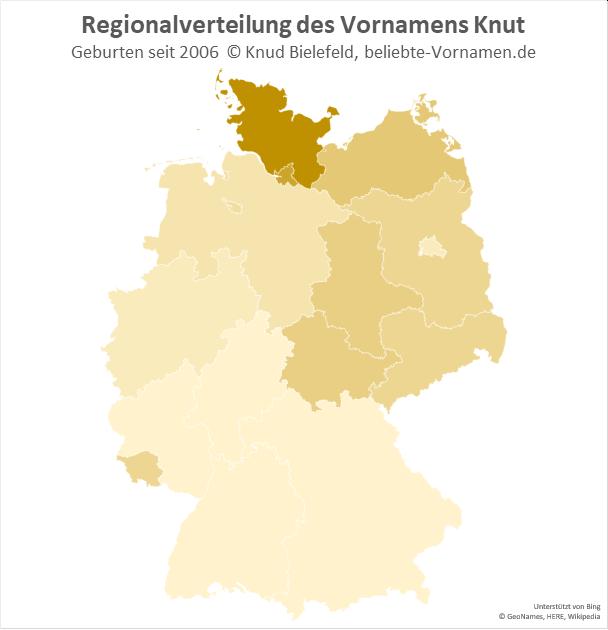 In Schleswig-Holstein ist der Name Knut am beliebtesten.