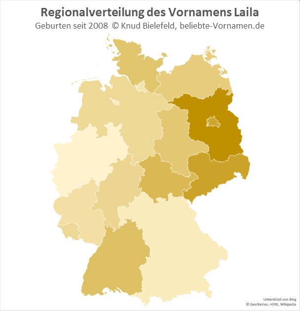 In Brandenburg ist der Name Laila besonders beliebt.