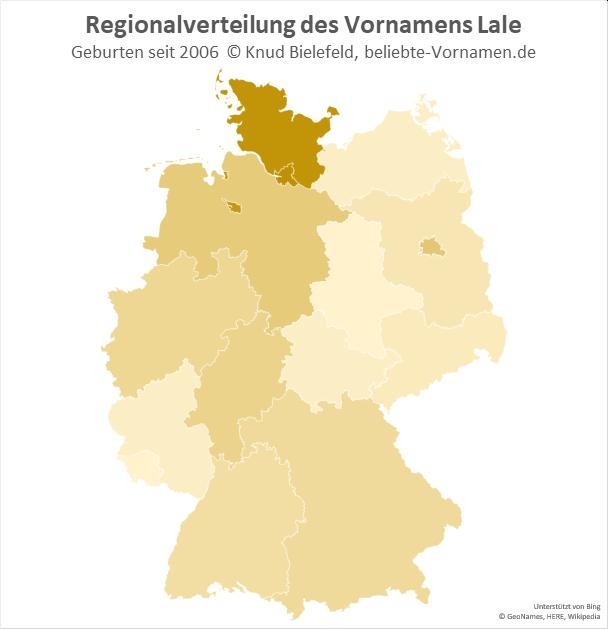 In Hamburg, Bremen und Schleswig-Holstein ist der Name Lale besonders beliebt.