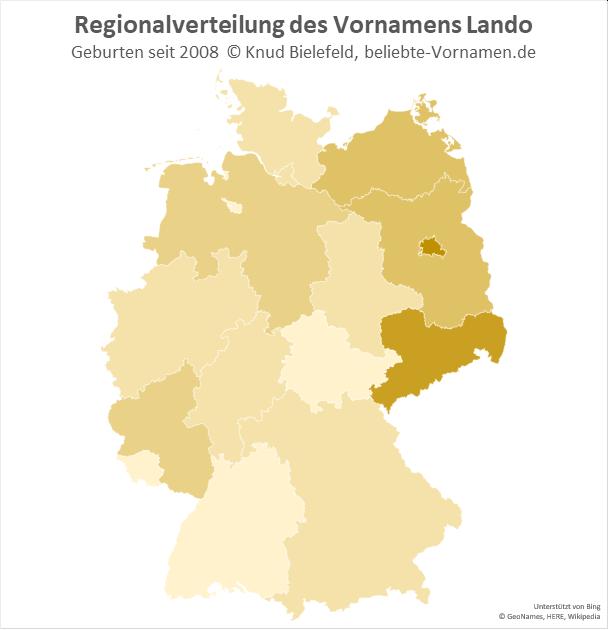 Am beliebtesten ist der Name Lando in Berlin und in Sachsen.