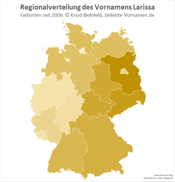 In Brandenburg ist der Name Larissa besonders beliebt.