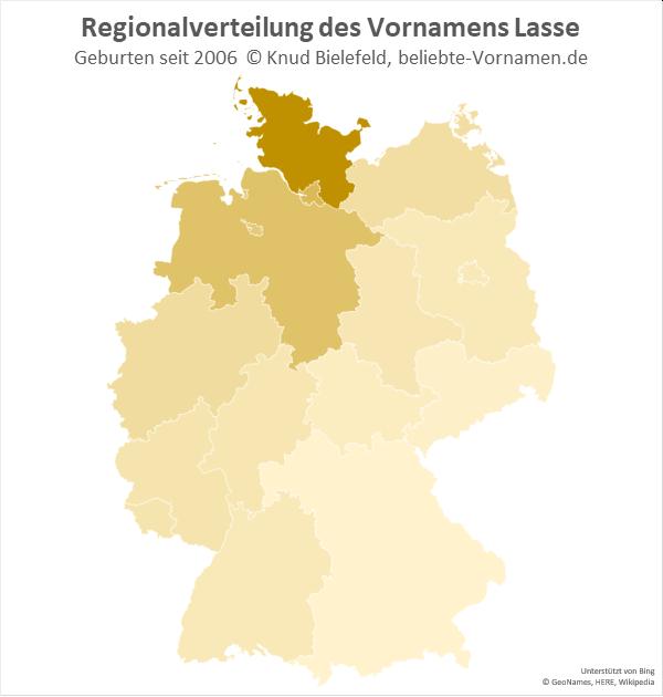 Am beliebtesten ist der Name Lasse in Schleswig-Holstein.
