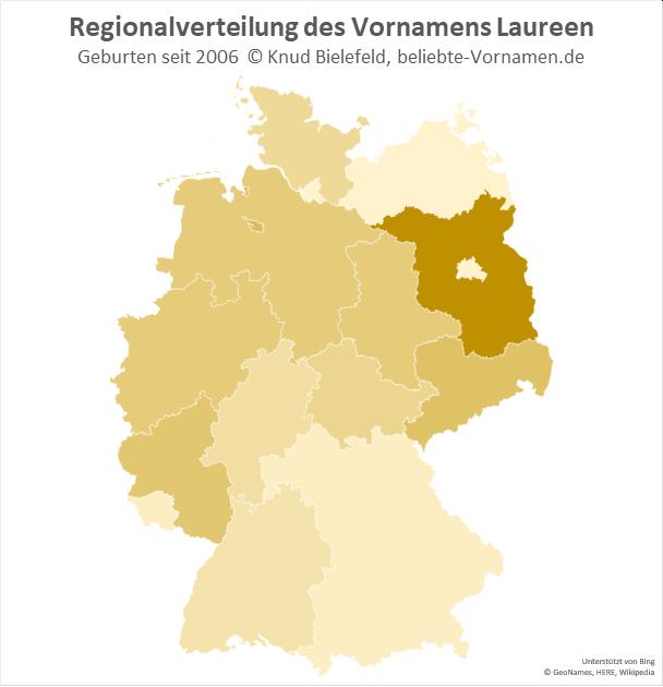 In Brandenburg ist der Name Laureen besonders beliebt.