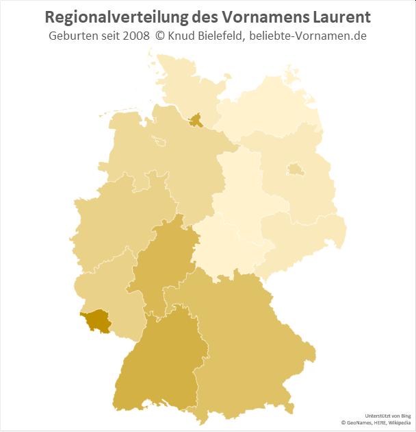 Im Saarland ist der Name Laurent besonders beliebt.