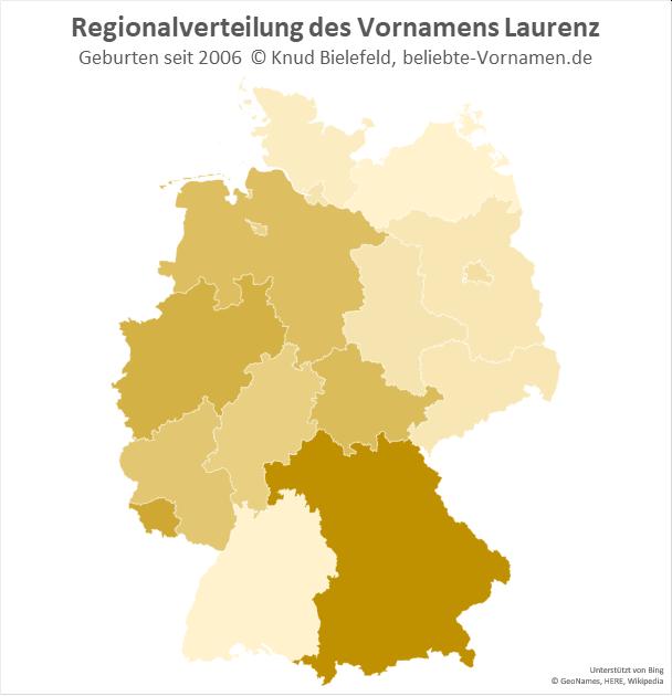 In Bayern ist der Name Laurenz besonders beliebt.