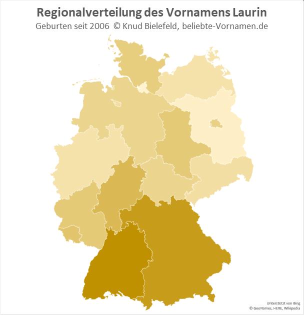 In Baden-Württemberg ist der Name Laurin besonders beliebt.